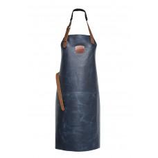 Genuine Orange Classic Leather Apron 82 cm - Blue Navy