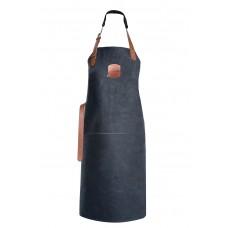 Genuine Orange Classic Leather Apron 82 cm - Black - Hand Made