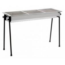 Hendi Charcoal Barbecue Resto 3 BBQ Grillplates | 1130x380x(h)770mm - Professioneel